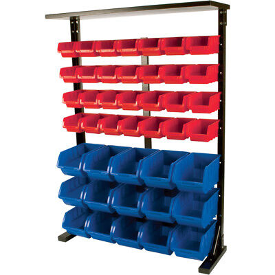 Grip Mobile 29390 Double-Side Storage Bin Rack with 64 Small Bins and 30 Large B