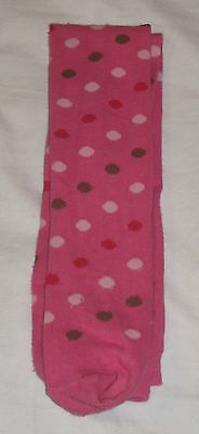 Girl's pink, spotted tights from Primark, age 5-6