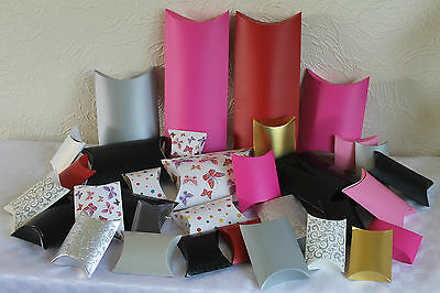 BRAND NEW PILLOW GIFT BOXES * Choice of Colours, Sizes & Quantities