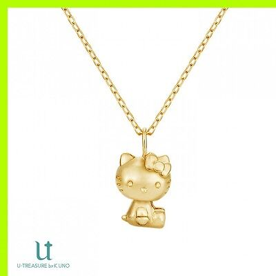 Pre Hello kitty Necklace Collection K18 Yellow Gold Japan U-Treasure by K.UNO