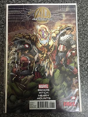 Age Of Ultron Issue 1 Chrome Variant Nm/vf First Print Bagged And Boarded