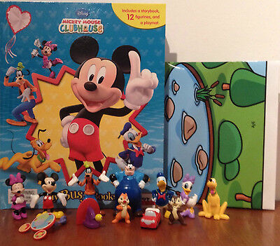 Mickey Mouse Clubhouse My Busy Books With 12 Disney Figurines + Playmat Bnib