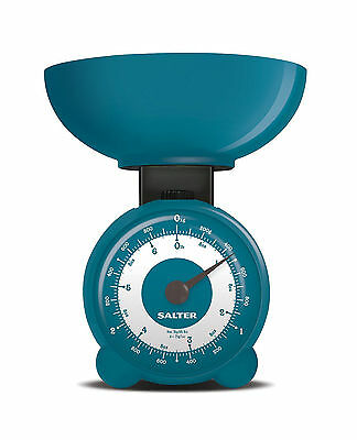 Salter Mechanical Orb Kitchen Scales Blue or Pink