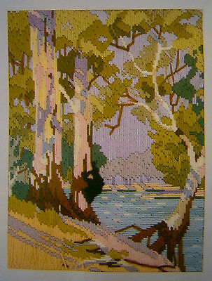 """Vintage ACG Long Stitch Kit """"River Bend"""" New Embroidery Craft Tapestry"""