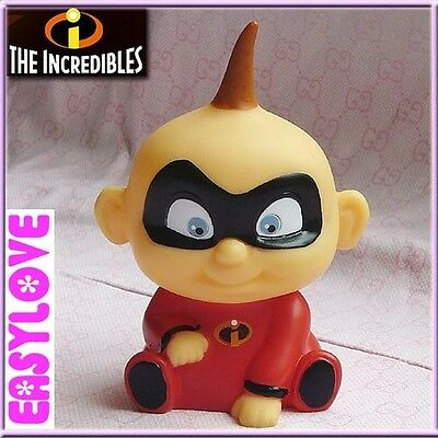 Free Cute! Disney The Incredibles JACK Jack 12cm Coin Bank Collect Figure Red