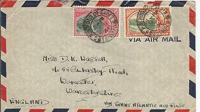 TRINIDAD KING GEORGE VI 1941 COVER WITH 60c AND 8c TO ENGLAND  REF 130