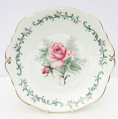 Vintage Duchess Bone China Floral Pink Roses Cake Plate