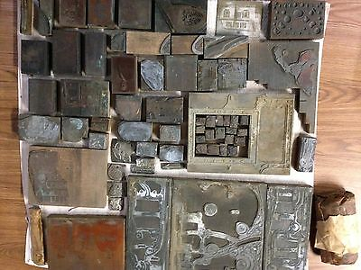 Antique Printing Press Plates  Lot Sale  Best Offer