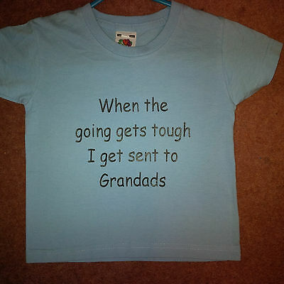 Novelty Slogan Child Tshirt - When The Going Gets Tough....