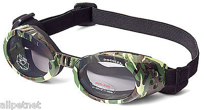 SUNGLASSES FOR DOGS by Doggles - GREEN CAMO FRAME - MEDIUM