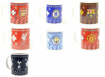 Football Soccer Team Club Christmas Coffee Supporter Boxed Gift Mug Official NEW