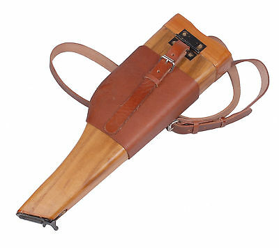 Wwii German Mauser C96 Broomhandle Leather Holster And Stock
