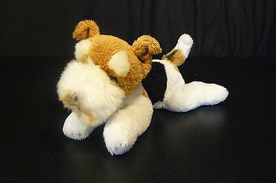 Fox Terrier Plush Yomiko Classics Russ Berrie Hounsdown Stuffed Animal 9""