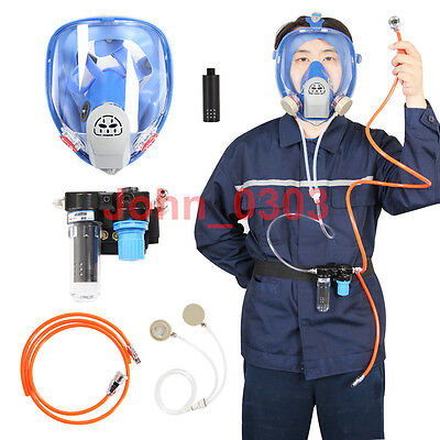 Supplied Cool Air Fed Respirator System & 6800 Spraying Full Face Gas Mask
