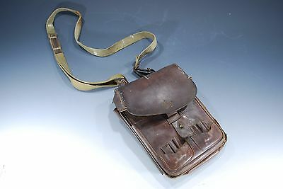 Vintage Japanese Military WWII WW2 Army Officer's Leather Map Case Named Bag