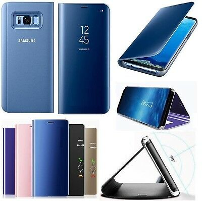 Smart View Genuine Leather Flip Case Cover For Samsung Galaxy S8 S9 Plus J4 J6 +