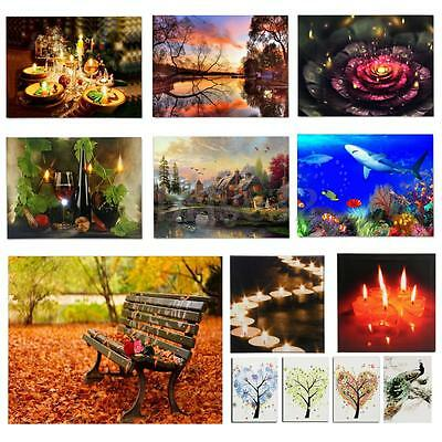 40x30cm Christmas LED Lighted Luminous Painting Canvas Picture Home Wall Decor
