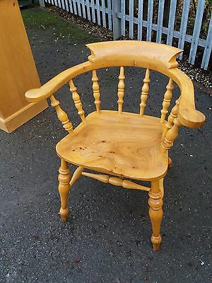 Solid Beech Smokers Bow Chair/Tavern Chair In Excellent Condition