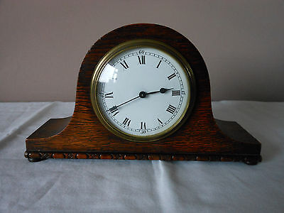 Very Nice Vintage Wooden Cased French Mantle Clock