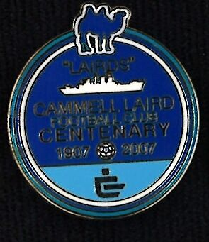 Cammell Laird FC centenary enamel badge