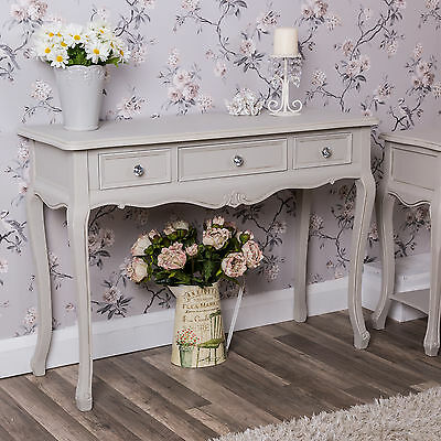 Grey Dressing Console Table Crystal Bedroom Furniture Hallway Shabby Chic Home