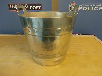 Nottinghamshire Constabulary Engraved Ice Bucket or Wine Cooler (Ref CCC)