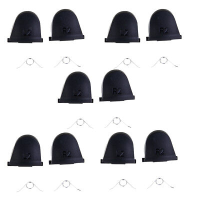 10 Pairs Replacement L2 R2 Trigger Buttons + Springs Set for PS4 Controller