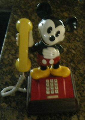 Vintage Colorfull Mickey Mouse Disney Touch - Tone Phone