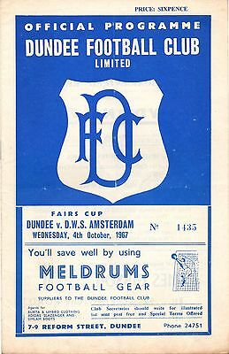 67/68 Fairs Cup Dundee v D.W.S. Amsterdam