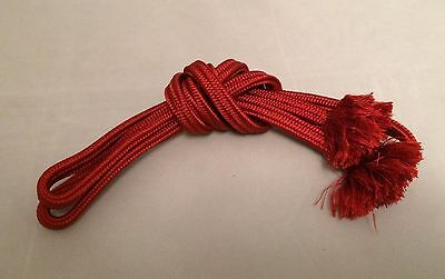 Vintage authentic Japanese obijime cord for kimono, wine red, silk (B627)