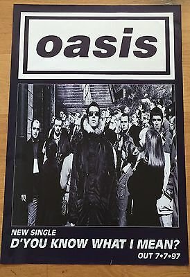 Oasis New Single You Know What I Mean Original Promo Poster 20 X 30