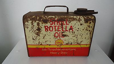 Old Shell Motor Oil Can From Greece
