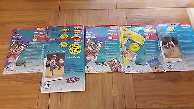 A4 Photo Paper Job Lot of 7 packs - Decadry for Inkjet Printer