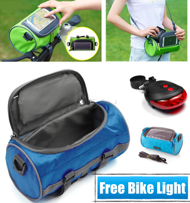 Waterproof Cycling Touch Screen Front Tube Bag Bicycle Bike Phone Holder + Strap