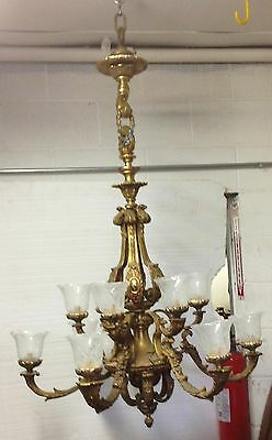Rococo Bronze 6 Arm 12 Light Chandelier