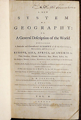 1765 A New System of Geography .. 20 Maps Incl North America