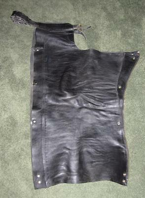 Men's Black Leather Motorcycle Chaps