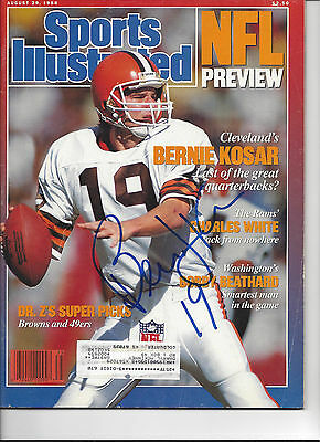 Bernie Kosar Cleveland Browns #2 Signed Sports Illustrated COA