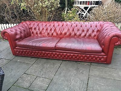 Vintage Leather Chesterfield 3 Seater Sofa