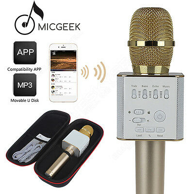 MicGeek Q9 Microphone Wireless Portable KTV USB Play W/ Mic Fr iPhone Smartphone