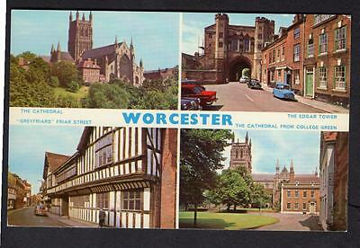 """""""WORCESTER"""" Multi View Postcard  Worcestershire"""