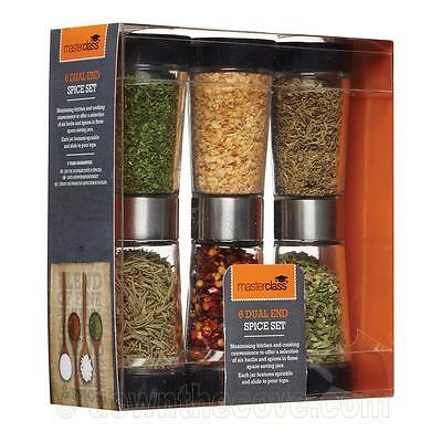 Master Class 3 Piece Dual Ended Spice Dispenser Set - herbs & spices - gift box