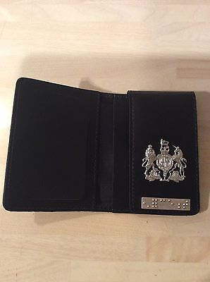 Warrant Card Wallet With generic Crest and authentic Enforcement Braille Bar