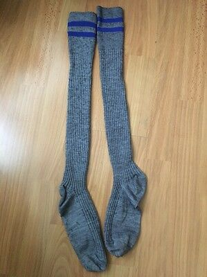 JOHN LEWIS Wool Mix Ribbed LONG KNEE HIGH Warm SOCKS, SIZE AGE 9-10YEARS.