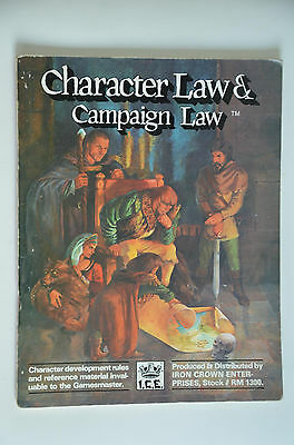 Character Law & Campaign Law - Rolemaster Sammlung Auflösung - ICE #1300