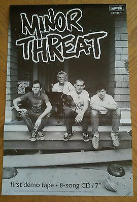 Minor Threat - first demo tape POSTER '09 (Unused MINT Condition) RARE new PROMO