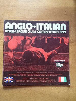 Anglo Italian Inter-League Clubs Competition 1972