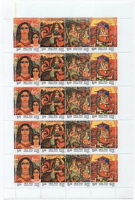 INDIA: 2007 'Women's Day' - Full 5 x 4 Mint Sheet with Margins (4389)