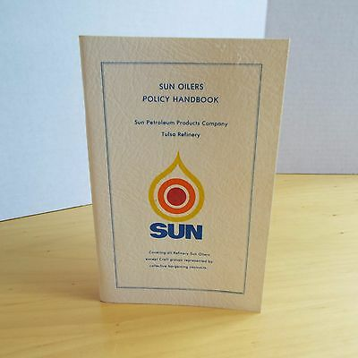 Vintage Sun Oil Policy Handbook from 1978