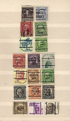 USA lot of 18 precancels all used includes invert see scan